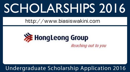 Undergraduate Scholarship Application 2016