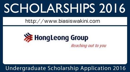Undergraduate Scholarship Application 2016