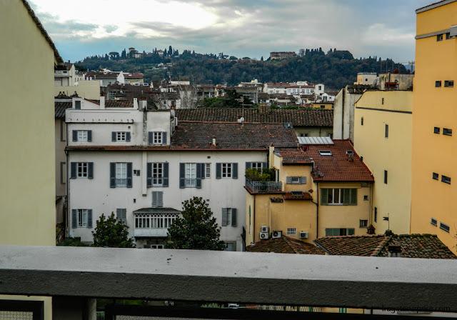 Vista do terraço do apartamento do Hotel C-Diplomat em Florença