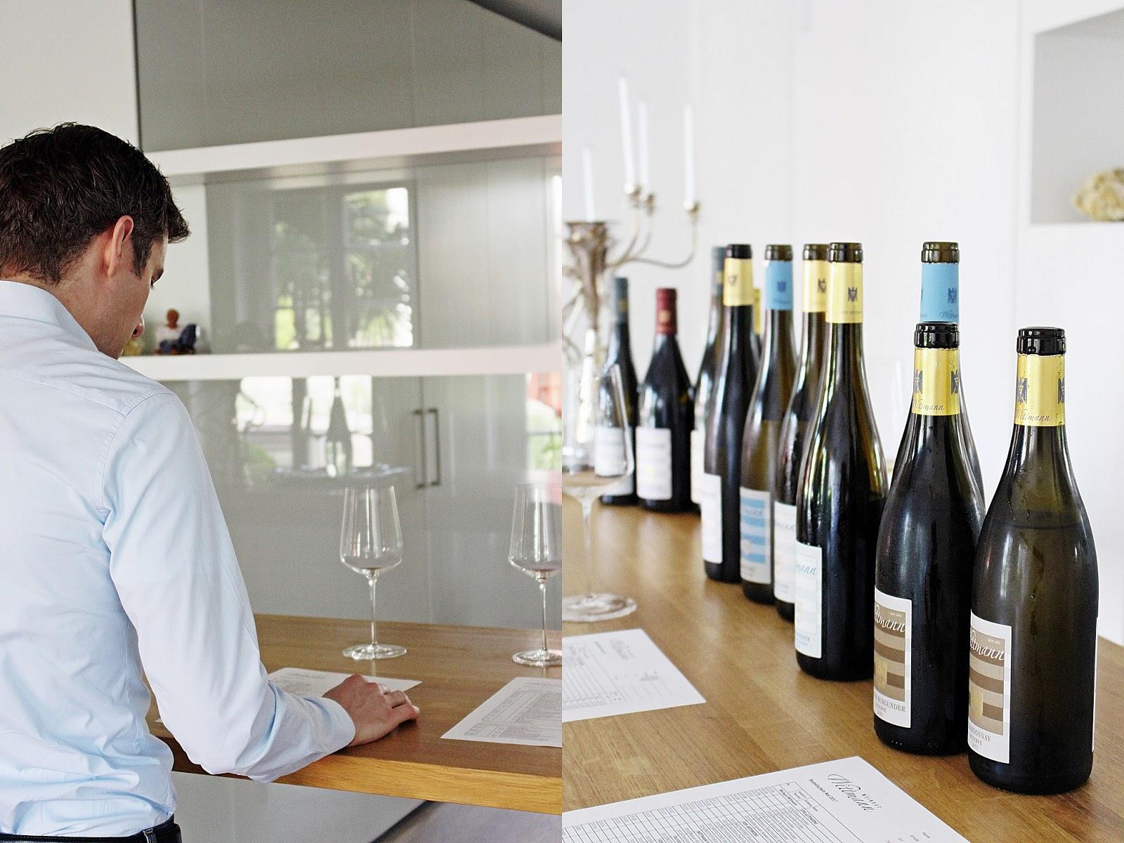 Eine Weinverkostung auf dem Weingut Wittmann