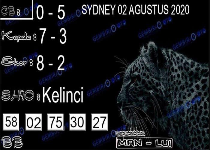Kode syair Sydney Minggu 2 Agustus 2020 134