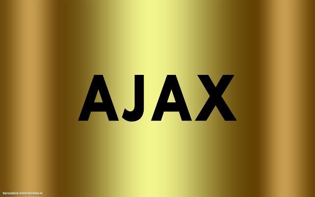 Gouden Ajax wallpaper met zwarte tekst Ajax