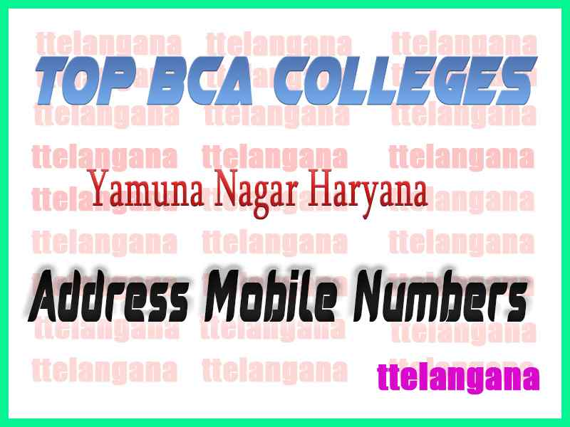 Top BCA Colleges in Yamuna Nagar Haryana