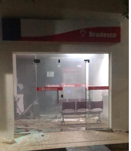 Agência do Bradesco de Jericó é explodida na noite desta sexta-feira