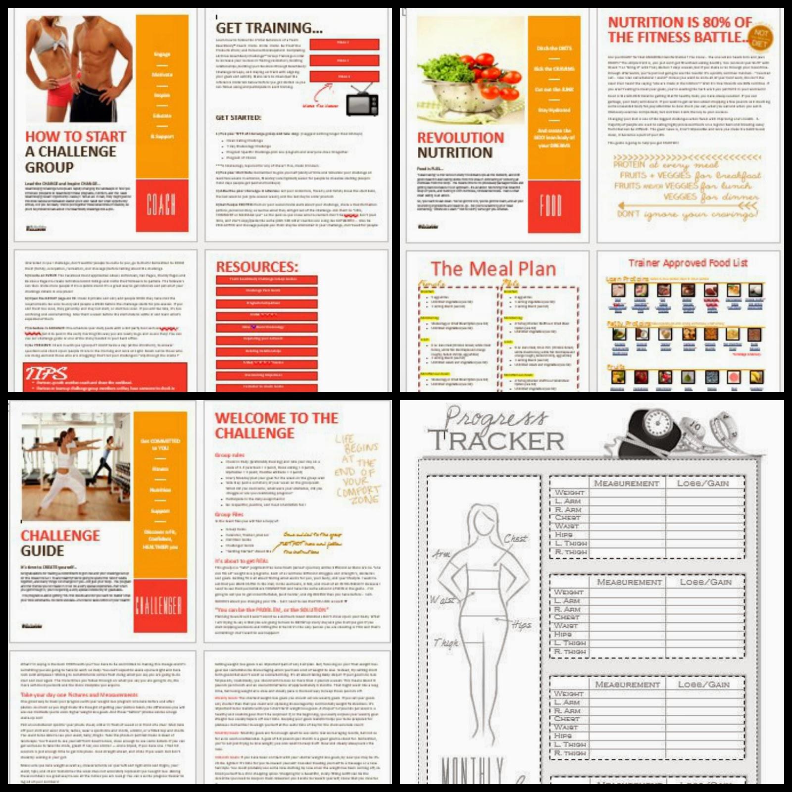 Insanity meal Plan pdf