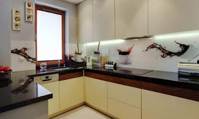 best kitchen wall panels from different materials, wall panels for kitchen