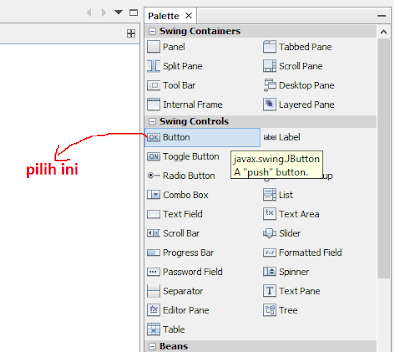 16 - Tutorial 4 Pemrograman Java Netbeans  – Disain Form Dengan Tombol Hapus Dan Tombol Keluar