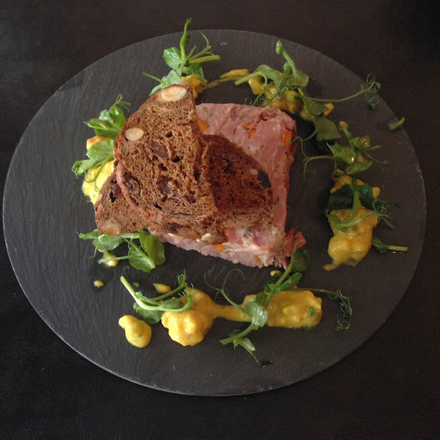 Ham hock terrine at Rhubarb restaurant, Skipton