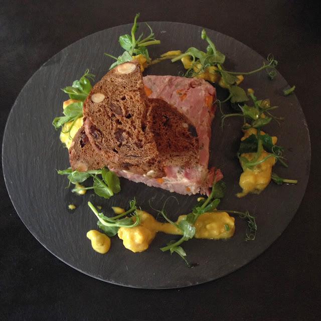 Ham hock terrine at Rhubarb restaurant, Skipton