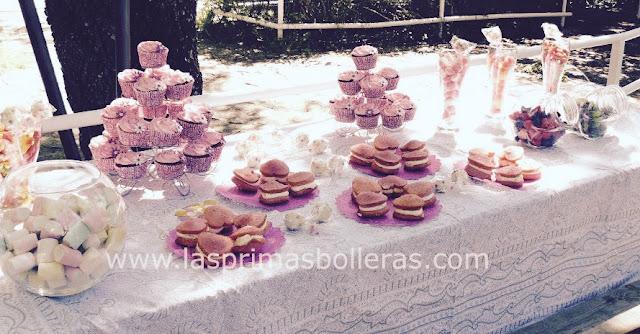 Mesa de dulces para bodas románticas