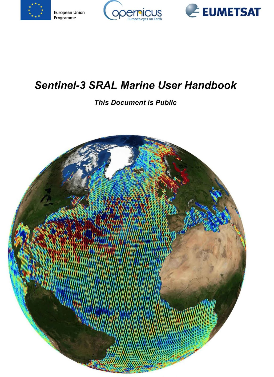 Marine User Handbook for Sentinel 3 users available online