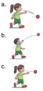 ilustrasi gambar melempar bola ke bawah