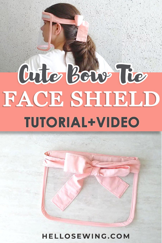 DIY Easy Reusable Face Shield with Cute Bow Headband