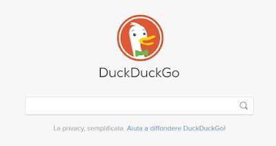 navigare in privato con DuckDuckGo - motore di ricerca privato con sede in USA
