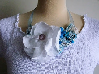 frosted flowers necklace by karen vallerius