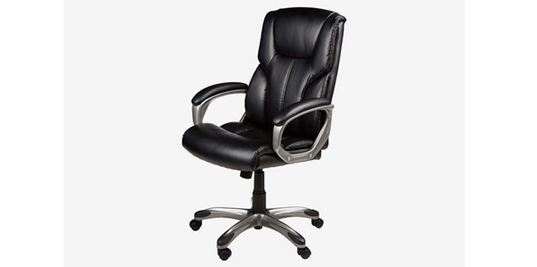 Review 15 Kursi Kantor Terbaik AmazonBasics High-Back Executive Chair — Black