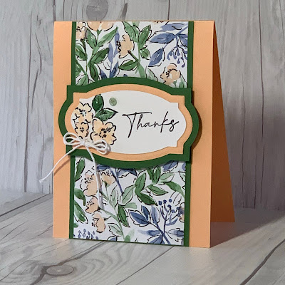 """Thank You card using Hand-Penned 12"""" X 12"""" Designer Series Paper"""
