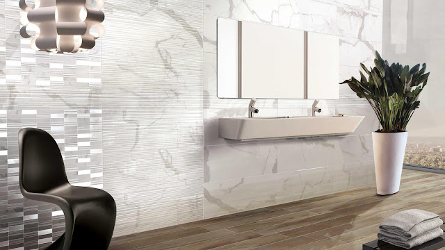 Toilet tiles design images of Absolute Plus series