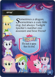 MLP Spike Equestrian Friends Trading Card