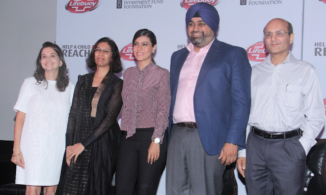 Lifebuoy Launches The Chamki Initiative #HelpAChildReach5 With Kajol