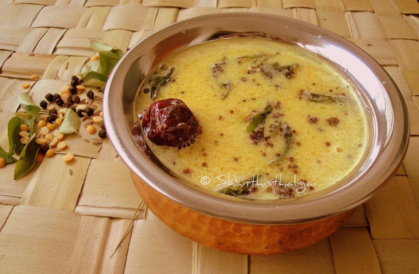 How to make Mor sathamudhu, How to make Mor rasam, How to make Majjige saaru , How to make Buttermilk rasam