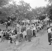 Community picnic Louise Hays Park Kerrville Texas