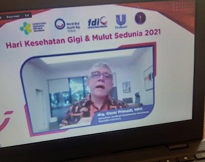 key note speech drg. Oscar Primadi, MPH (Sekretaris Jenderal Kementrian Kesehatan Republik Indonesia).