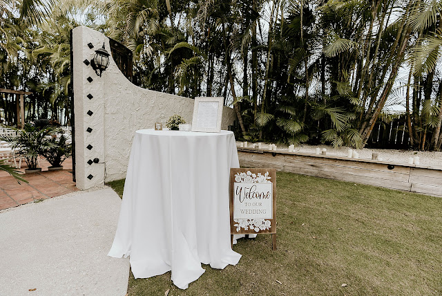 Detail shot of welcome table at Ceremony The Manor on St Lucie Crescent Wedding captured by Stuart Wedding Photographer Heather Houghton Photography