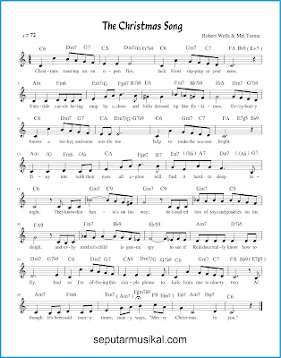 The Christmas Song chords jazz standar