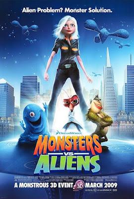 Monsters vs. Aliens 2009 Multi Audio Hindi 720p BluRay 800MB