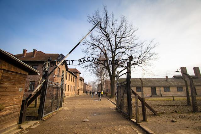 Ingresso del campo di concentramento di Auschwitz