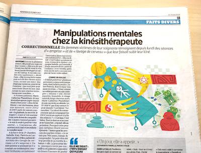 Clod illustration fait-divers pour le Parisien Aujourd'hui en France du 22 février 2017.