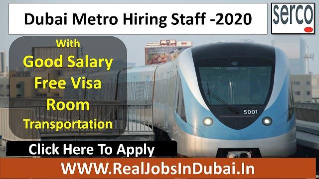 Dubai Metro Jobs Serco Hiring Saff In UAE 2020