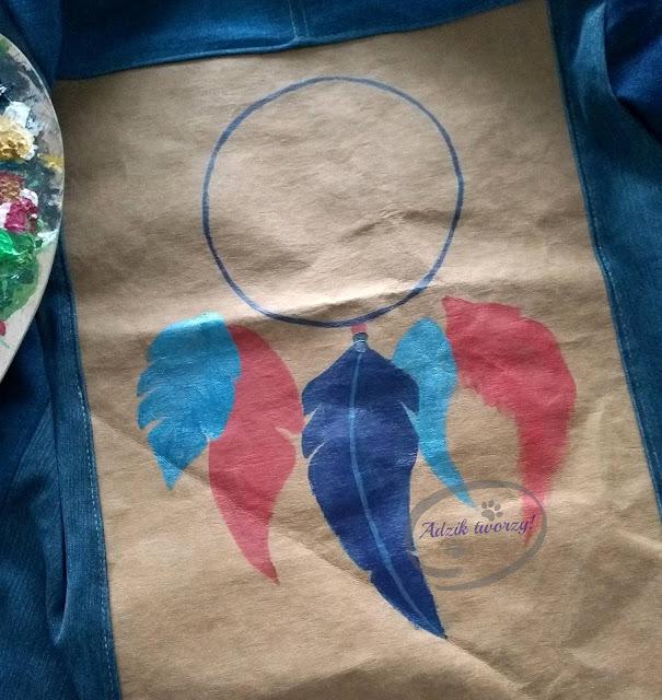 jak namalować łapacz snów DIY na tkaninie