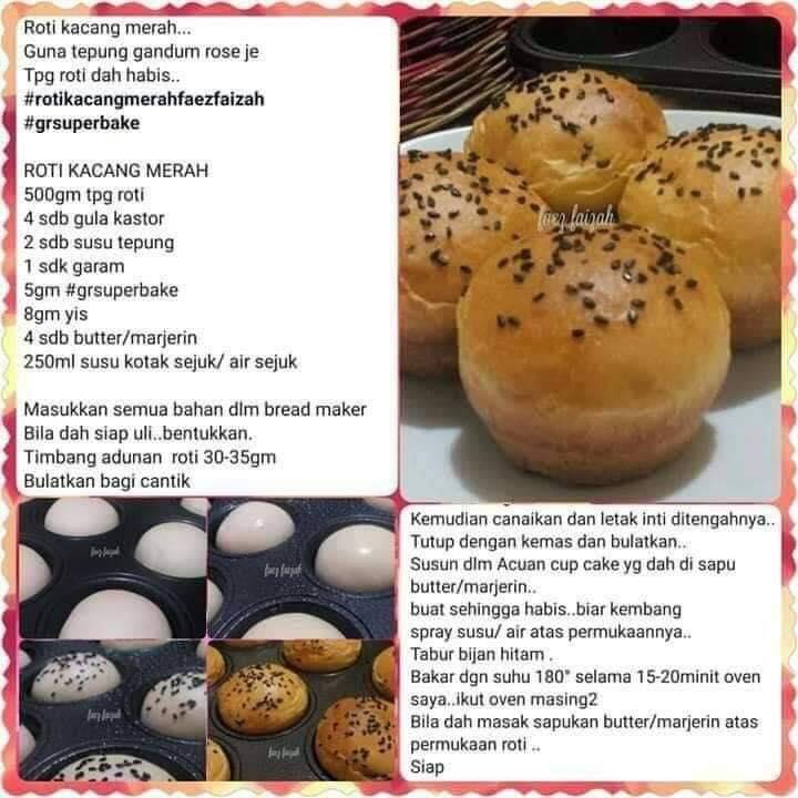 resepi roti kacang merah
