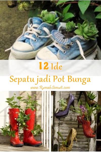 12 Ide Tanam Bunga di Sepatu