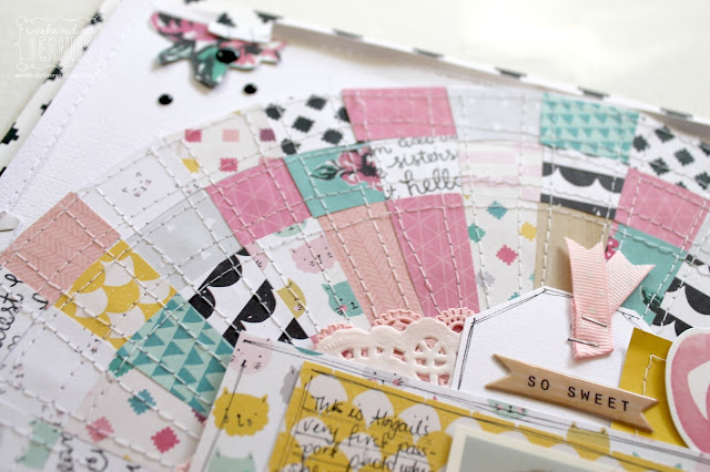 """Adore "" layout by Bernii Miller for Scrapping Clearly using the Cute Girl collection by Crate Paper."