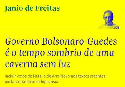 Print manchete coluna de Janio de Freitas