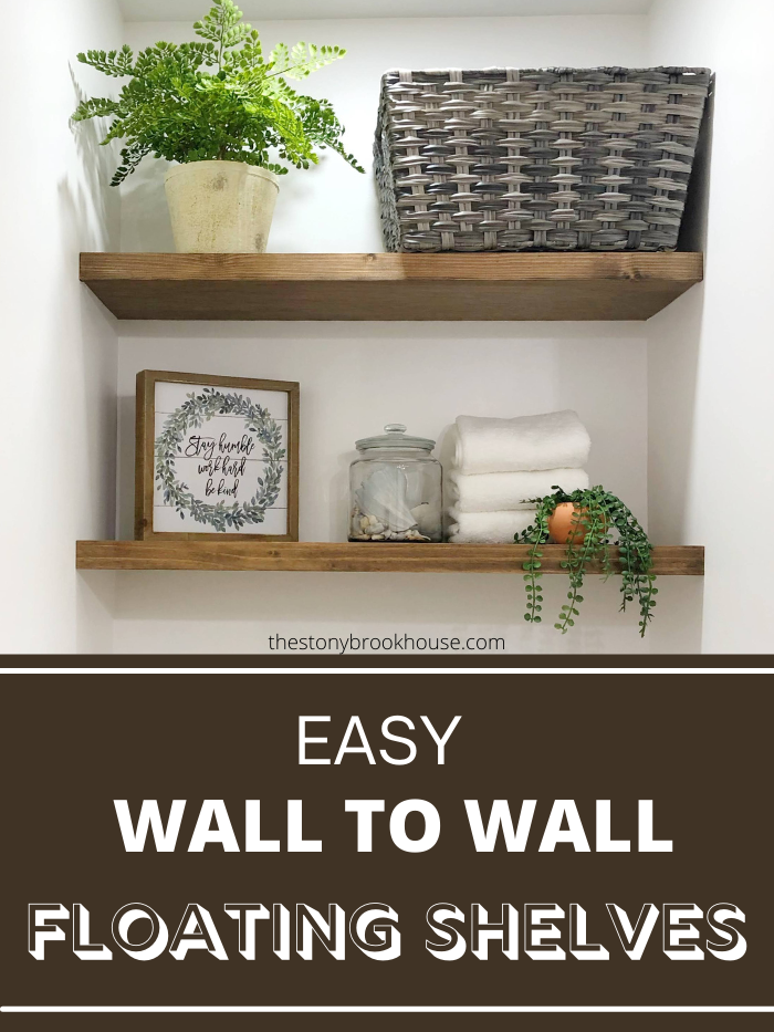 Easy Wall To Wall Floating Shelves