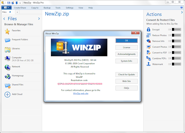 Screenshot WinZip Pro 24.0 Build 14033 Full Version