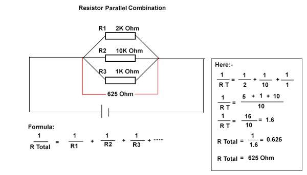 parallel combination of resistor
