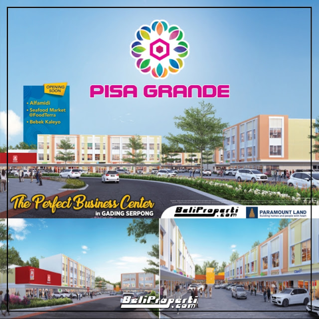 pisa grande unit komersial paramount land
