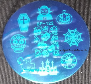 Stamping-Plate-Born-Pretty-Store-122-BP122-BP-122-Pumpkin-Halloween