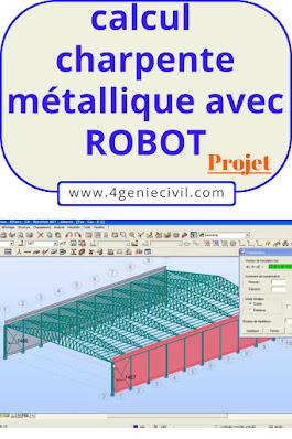 calcul charpente métallique avec ROBOT - exemple de projet