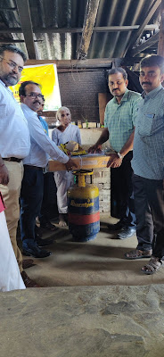 Kamalathal being offered LPG Connection by BPCL