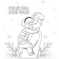 Dia dos Pais: desenhos de pais e filhos para colorir
