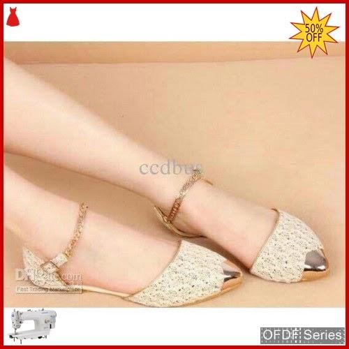 OFDF165 Sepatu Flat Cantik Lace Rantai Vinata BMGShop