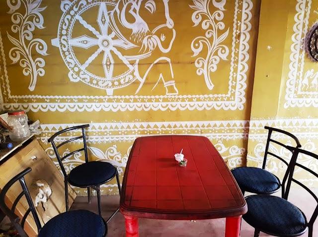Art inside Odiani Family Restaurant