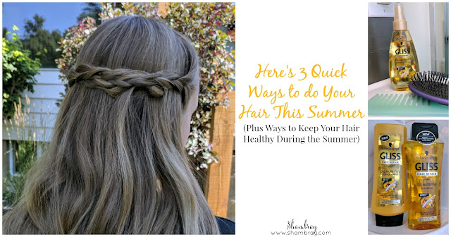 Here's 3 Quick Ways to do Your Hair This Summer: Plus Ways to Keep Your Hair Healthy During the Summer