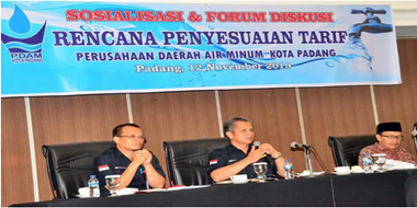 Penyesuaian Tarif PDAM Padang Sosialisasikan ke Lurah dan Camat